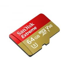 Cartão de Memória Sandisk 64GB Extreme 4K Micro SD