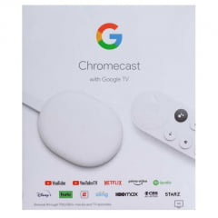 Chromecast com Google TV 4K HDR HDMI